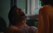 Jessica Pare in hot tub