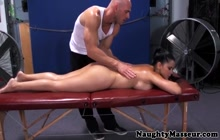 Diamond Kitty massaged and fucked in the ass