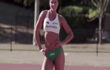 Athlete Michelle Jenneke sexy video