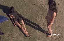 Regina Nemni and Luisa Ranieri nude on the beach